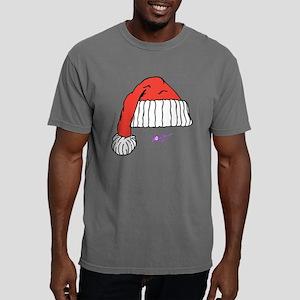 Santa Hat Mens Navy Hood Mens Comfort Colors Shirt