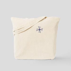 Trent Ambigram - Left side Navy Blue Tote Bag