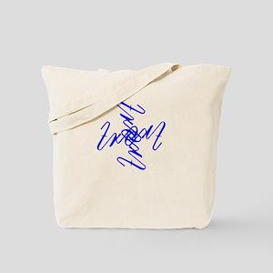 Trent Ambigram - Large Royal Blue Tote Bag