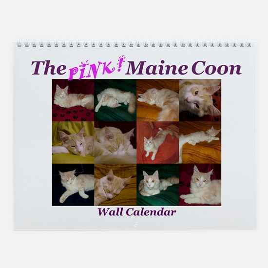 'Pink' Maine Coon Wall Calendar