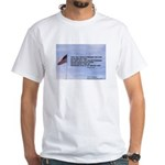 Flagpole and verse White T-Shirt