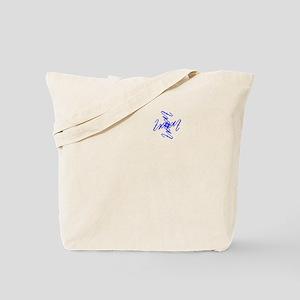 Trent Ambigram - Left side Royal Blue Tote Bag