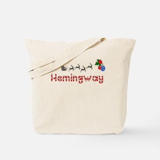 Hemingway, Christmas Tote Bag