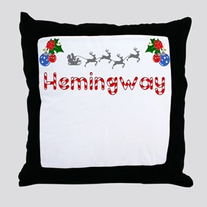 Hemingway, Christmas Throw Pillow