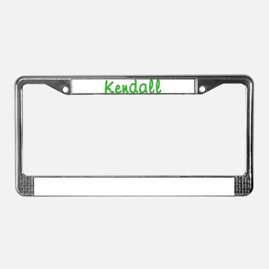Kendall Glitter Gel License Plate Frame