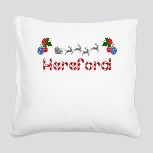 Hereford, Christmas Square Canvas Pillow