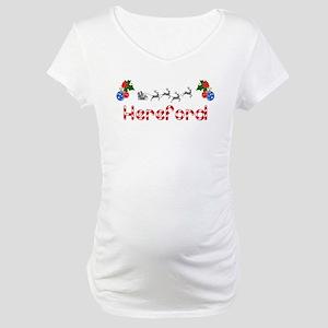 Hereford, Christmas Maternity T-Shirt