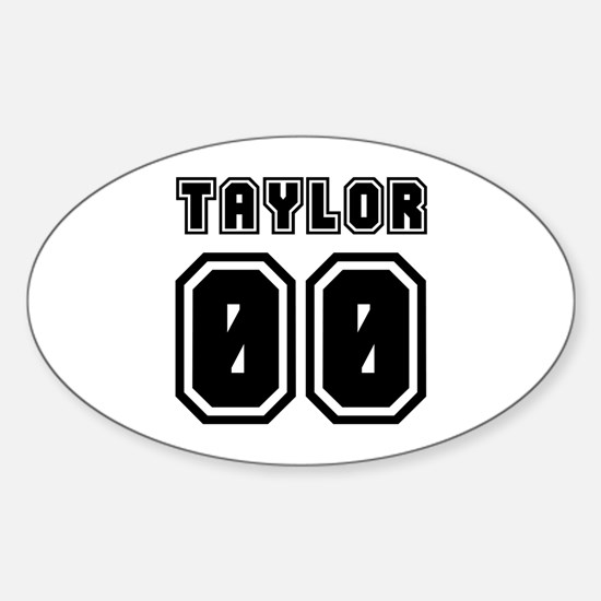 TAYLOR JERSEY 00 Oval Decal