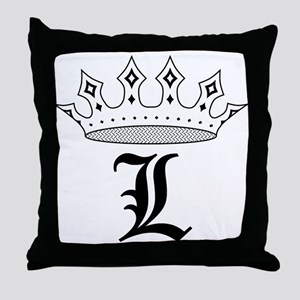 Crown L Throw Pillow