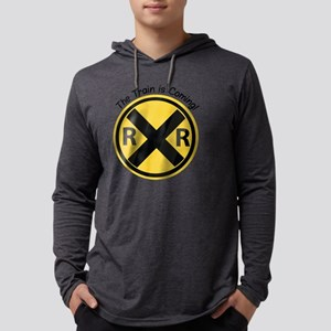 Train Is Coming Mens Hooded Shirt