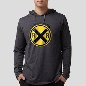Railroad Crossing Mens Hooded Shirt