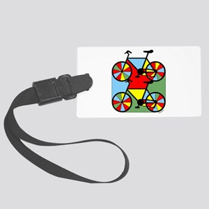 Colorful Bikes Large Luggage Tag