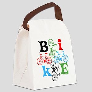 Four Bikes Canvas Lunch Bag