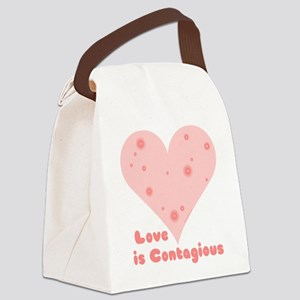 Love is Contagious Canvas Lunch Bag