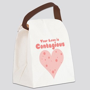 Your Love is Contagious Canvas Lunch Bag