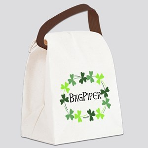 Bagpipe Shamrock Oval Canvas Lunch Bag