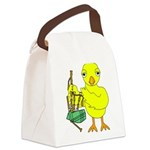 Bagpipe Chick Canvas Lunch Bag