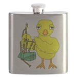 Bagpipe Chick Flask