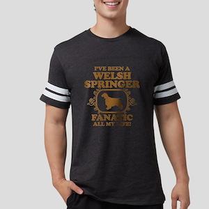 3-Welsh-Springer-Spaniel Mens Football Shirt