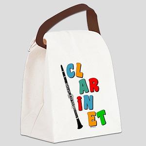 2-ClarColorTxtBUMP Canvas Lunch Bag