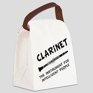 grayClarIntellBL Canvas Lunch Bag