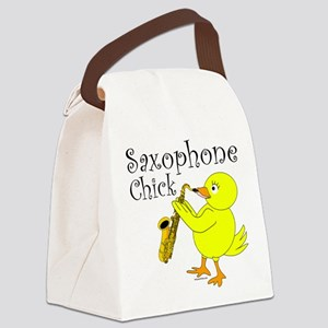 Saxophone Chick Canvas Lunch Bag