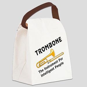 grayTromIntelBL Canvas Lunch Bag