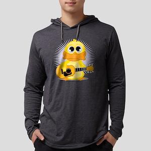 Guitar-Duck Mens Hooded Shirt