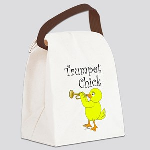Trumpet Chick Canvas Lunch Bag
