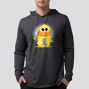 Grey-Ribbon-Duck Mens Hooded Shirt