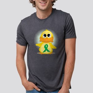 Green-Ribbon-Duck Mens Tri-blend T-Shirt
