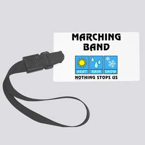 Marching Band Weather Large Luggage Tag