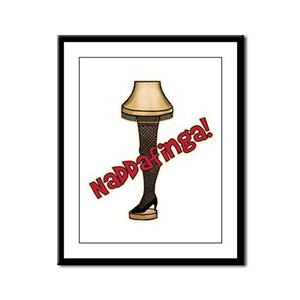 Naddafinga! Leg Lamp Framed Panel Print