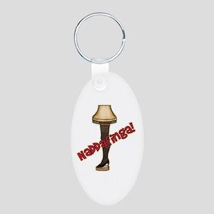 Naddafinga! Leg Lamp Aluminum Oval Keychain