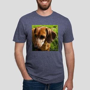 Dachshund-Tile Mens Tri-blend T-Shirt