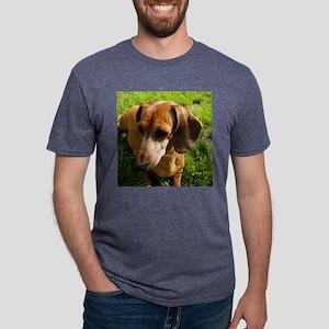Dachshund-Rorn Mens Tri-blend T-Shirt