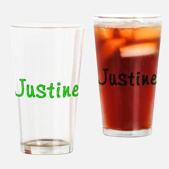 Justine Glitter Gel Drinking Glass