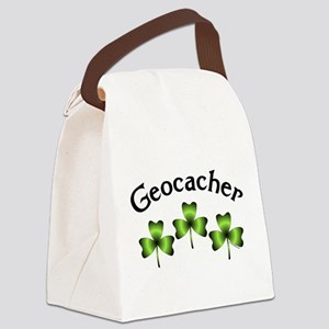 Geocacher 3 Shamrocks Canvas Lunch Bag