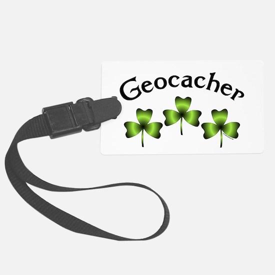 Geocacher 3 Shamrocks Luggage Tag