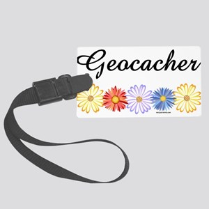 Geocacher Asters Large Luggage Tag