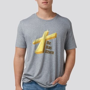 He Has Risen Mens Tri-blend T-Shirt