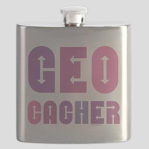 Geocacher Arrows Pink Flask