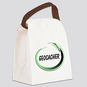 Green Geocacher Pizzaz Canvas Lunch Bag