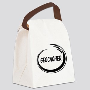 Black Geocacher Pizzaz Canvas Lunch Bag