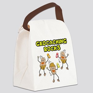 FxGeoCreedYel Canvas Lunch Bag
