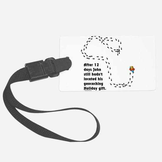 Holiday Geocacher Luggage Tag