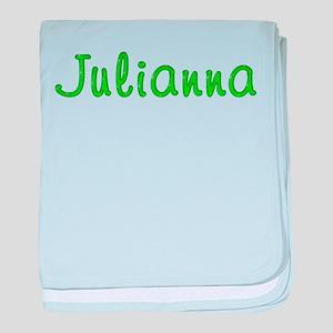 Julianna Glitter Gel baby blanket