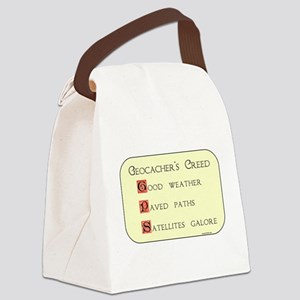 Geocacher's Creed Canvas Lunch Bag