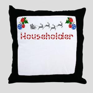 Householder, Christmas Throw Pillow
