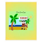Pirate Santa yo ho ho Small Poster